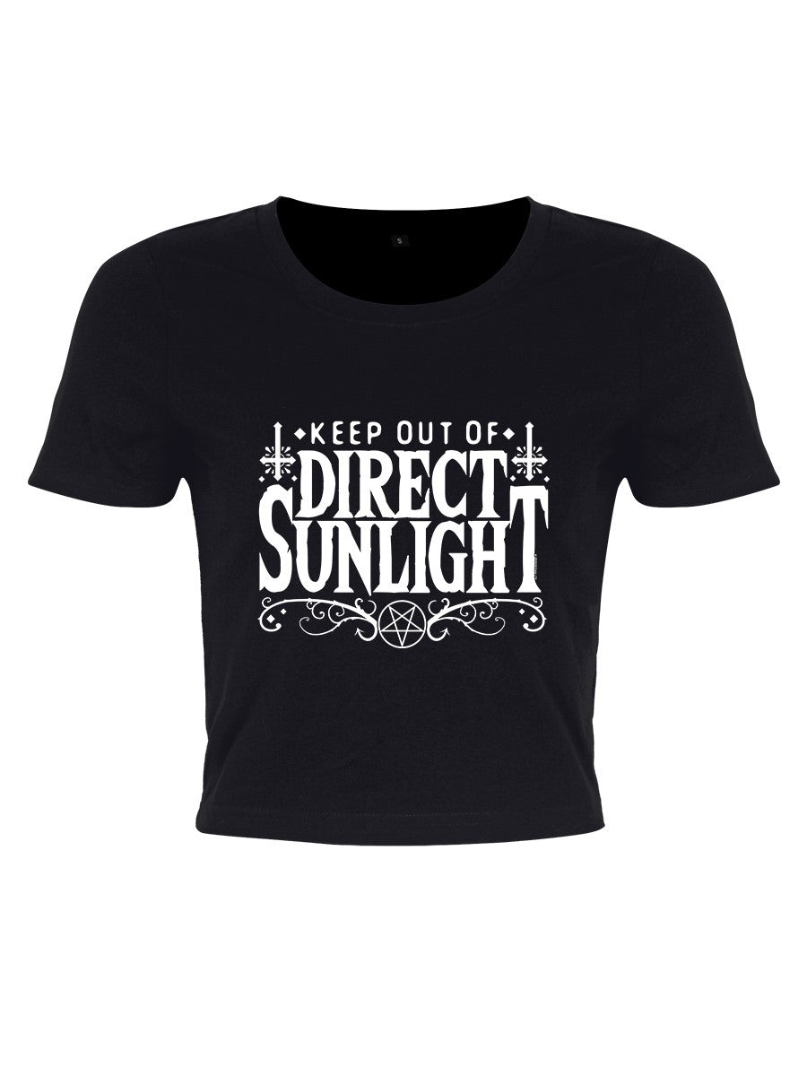 Grindstore Keep Out Of Direct Sunlight Cropped T-Shirt - Kate's Clothing