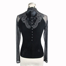 Load image into Gallery viewer, Eva Lady Plus Size Etched Rose Velvet Top - Kate's Clothing