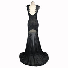 Load image into Gallery viewer, Eva Lady Lace Rose & Wings Maxi Dress - Kate's Clothing