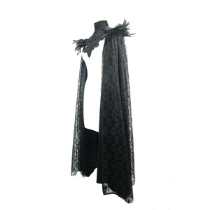 Eva Lady Velvet & Lace Cape - Kate's Clothing