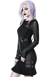 Killstar Synth Suspender Skirt - Kate's Clothing