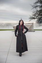 Load image into Gallery viewer, Necessary Evil Purple Lined Selene Coat - Kate's Clothing