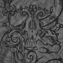 Load image into Gallery viewer, Devil Fashion Skull Embossed Mesh Top - Kate's Clothing