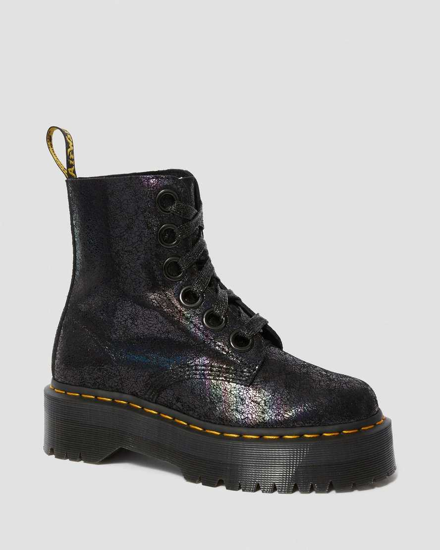 Dr. Martens Molly Iridescent Crackle Boot - Kate's Clothing