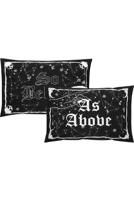 Killstar As Above Pillowcases - Kate's Clothing