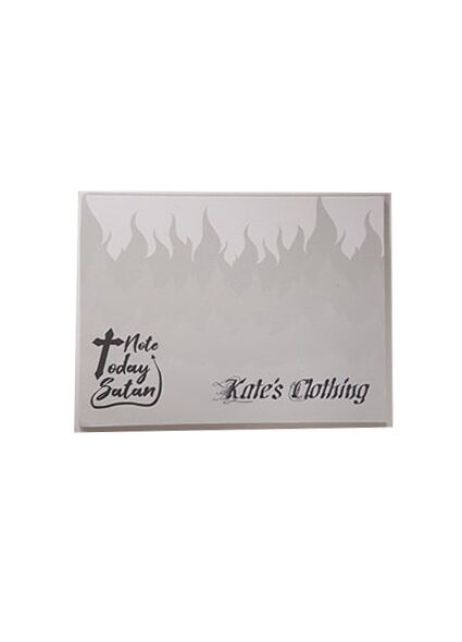Kate's Clothing Note Today Satan Sticky Notes - Add for FREE when you spend £20 or more - Kate's Clothing