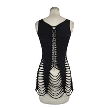 Load image into Gallery viewer, Devil Fashion Slashed & Spiked Vest Top - Kate's Clothing