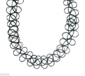 Gothic Attitude Stretch Tattoo Choker - Kate's Clothing