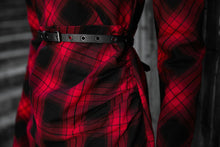 Load image into Gallery viewer, Punk Rave Yesenia Red Tartan Mini Dress - Kate's Clothing