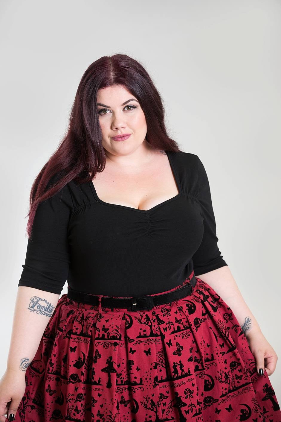 Hell Bunny Plus Size Philippa Top - Kate's Clothing