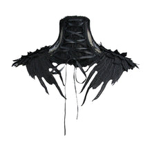 Load image into Gallery viewer, Eva Lady Gothic Roses Lace Collar - Kate's Clothing