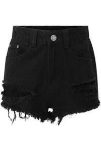 Killstar Zoey Denim Shorts - Kate's Clothing