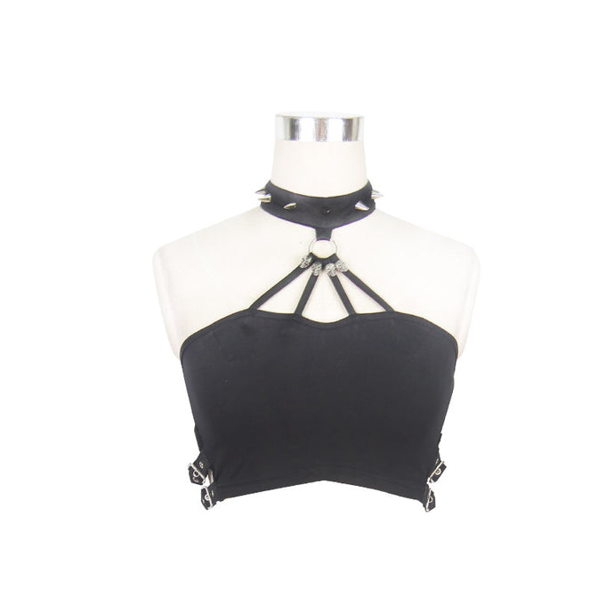 Devil Fashion Skull Crop Top - Kate's Clothing
