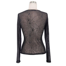 Load image into Gallery viewer, Devil Fashion Web Pattern Mesh Top - Kate's Clothing