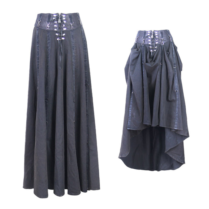 Devil Fashion Plus Size High Low Maxi Skirt - Kate's Clothing