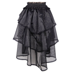 Devil Fashion Organza Swallowtail Skirt - Kate's Clothing