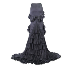 Load image into Gallery viewer, Eva Lady Plus Size Gothic Fishtail Maxi Skirt - Kate's Clothing