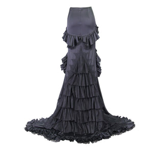 Eva Lady Plus Size Gothic Fishtail Maxi Skirt - Kate's Clothing
