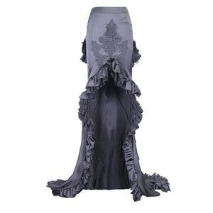 Eva Lady Gothic Fishtail Maxi Skirt - Kate's Clothing