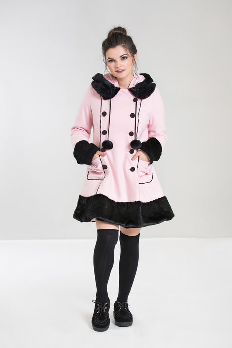 Hell Bunny Sarah Jane Coat - Pink - Kate's Clothing