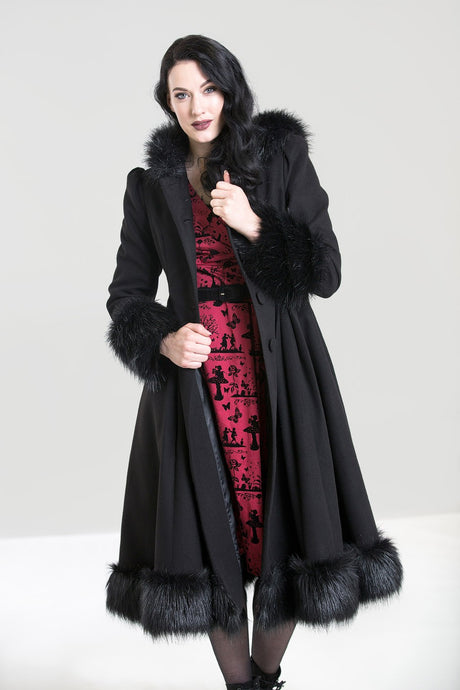 Hell Bunny Plus Size Elvira Coat - Kate's Clothing