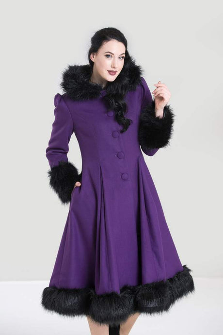 Hell Bunny Elvira Coat - Purple - Kate's Clothing