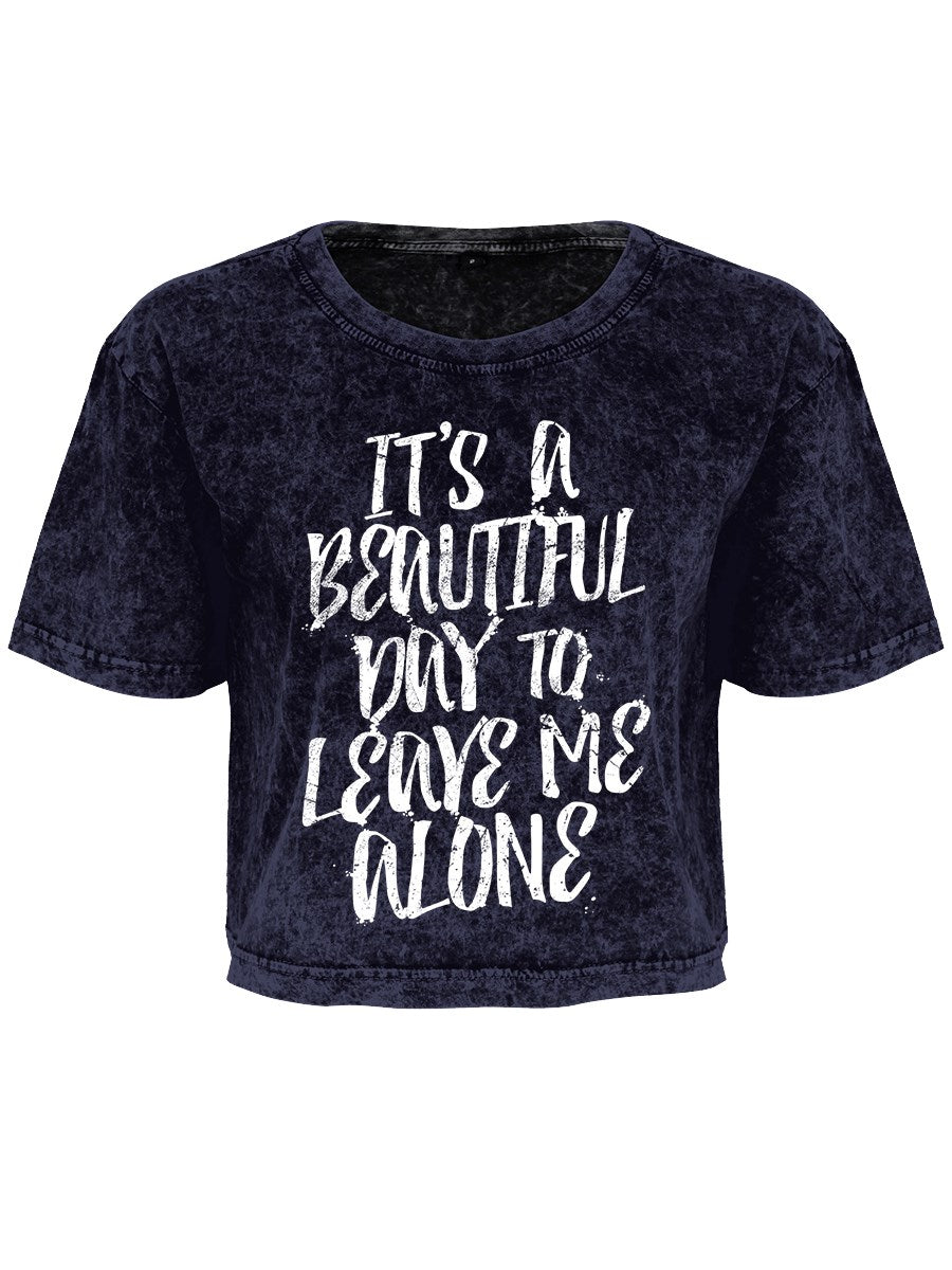 Grindstore It's A Beautiful Day Cropped T-Shirt - Kate's Clothing