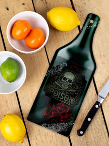 What's Your Poison? Glass Chopping Board - Kate's Clothing