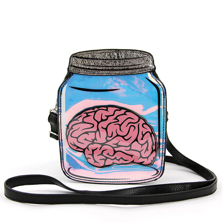 Sleepyville Critters Brain In A Jar Bag - Kate's Clothing