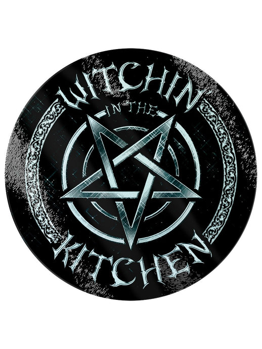 Witchin In The Kitchen Circular Glass Chopping Board - Kate's Clothing