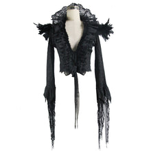 Load image into Gallery viewer, Eva Lady Feather & Lace Gothic Jacket - Kate's Clothing