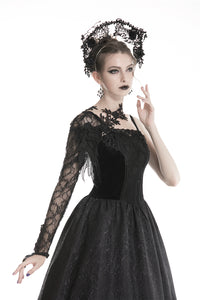 Dark In Love Vela Lace Half Sleeve - Kate's Clothing