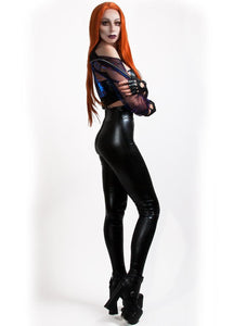 ANTIBrand Black Vinyl Trousers - Kate's Clothing