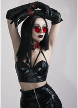 Load image into Gallery viewer, ANTIBrand Black Vinyl Bralet - Kate's Clothing