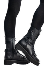 Load image into Gallery viewer, Killstar Eris Combat Boots - Kate's Clothing