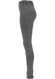 Urban Classics Plus Size Acid Wash Denim Effect Leggings - Kate's Clothing
