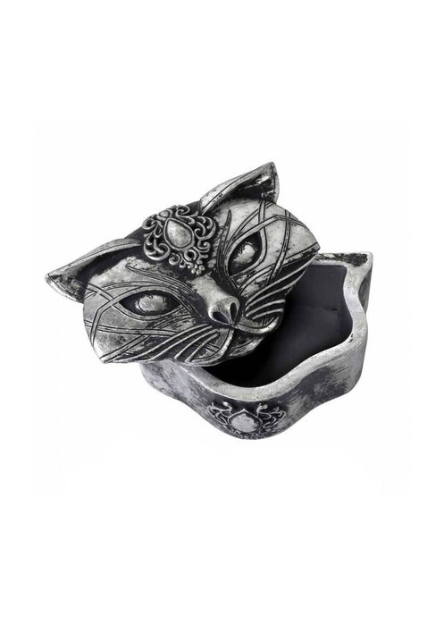 Alchemy Gothic Sacred Cat Trinket Box