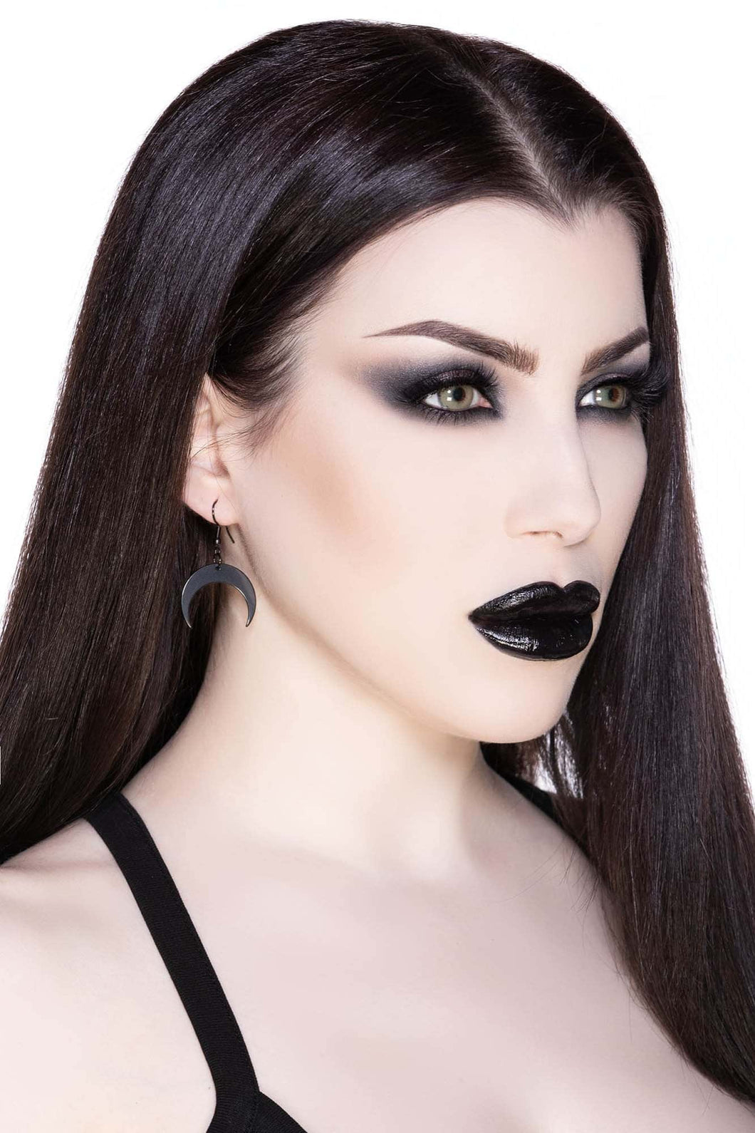 Killstar Baby Luna Earrings Black - Kate's Clothing