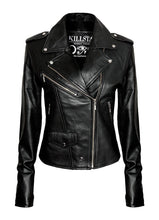 Load image into Gallery viewer, Killstar Vegan Leather Jacket - Kate's Clothing