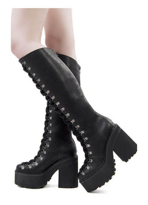 Killstar Bloodletting Knee-High Boots - Kate's Clothing