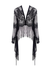 Dark In Love Izora Lace Kimono - Kate's Clothing