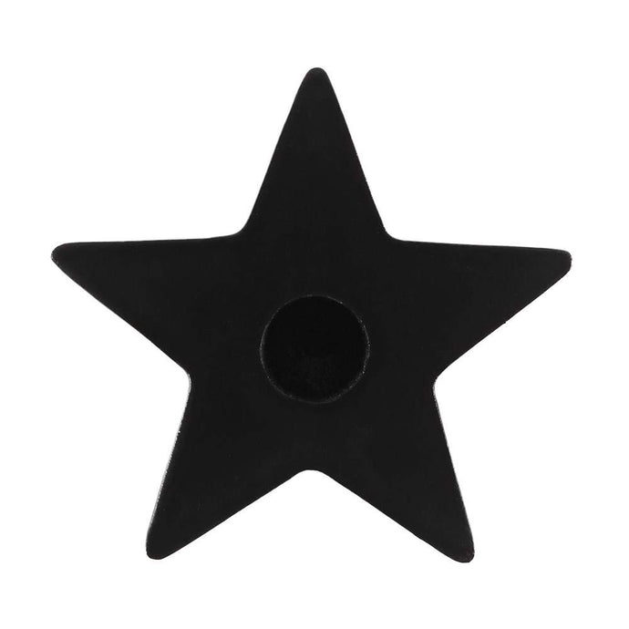 Gothic Gifts Black Star Spell Candle Holder - Kate's Clothing