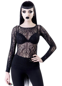 Killstar Capella Lace Top - Kate's Clothing