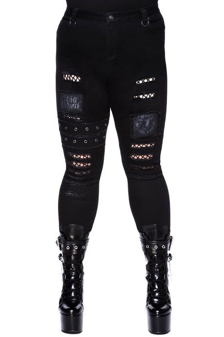 Killstar Carnage Jeans Plus Size - Kate's Clothing