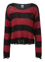 Load image into Gallery viewer, Killstar Casey Knit Blood Red Sweater - Kate's Clothing