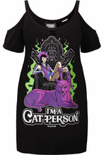 Load image into Gallery viewer, Killstar Evil-Lyn Cat Person Plus Size Distress Top - Kate's Clothing