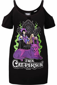 Killstar Evil-Lyn Cat Person Plus Size Distress Top - Kate's Clothing