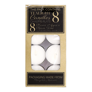 Gothic Gifts 8 Hour Burn Tealights - Pack Of 8
