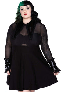Killstar Cemetery Drive Mesh Dress Plus Size - Kate's Clothing