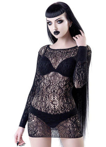 Killstar Ceres Chaos Lace Bodycon - Kate's Clothing
